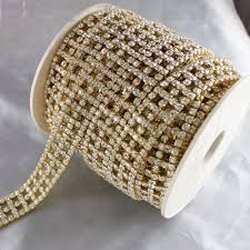 online buy wholesale diamond trim from china diamond trim 2 yards golden rhinestone chain trim 19mm crystal diamond trimming for bags garment shoes china