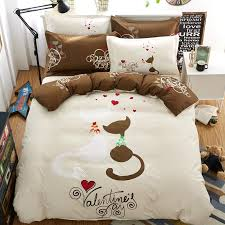Linen Bedding Sets Wholesale Cat Bedding Set Duvet Doona Cover Bed Sheet