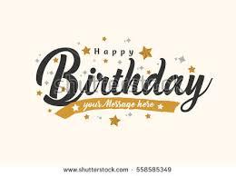 happy birthday typographic vector design greeting stock vector