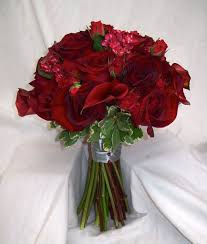 Red Wedding Bouquets Real Wedding Bouquets Red