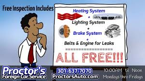 annapolis lexus service coupons proctor u0027s foreign car service free fall inspection 301 637 7070