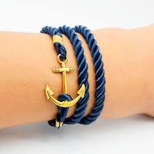 leather bracelets for men wholesale 2016 navy diy wind anchor ancient bracelet tom hope gold