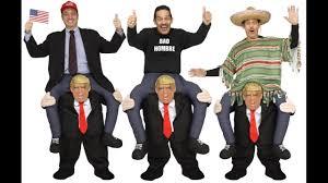 Piggyback Halloween Costume Donald Trump Carry President Halloween Costume