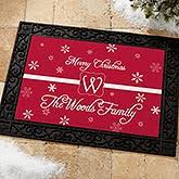 Holiday Doormat Personalized Christmas Doormats Personalizationmall Com
