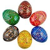 painted wooden easter eggs 2 5 set of 6 painted wooden ukrainian easter