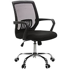 Office Chairs With Price List Amazon Com Amazonbasics Mid Back Mesh Chair Kitchen U0026 Dining