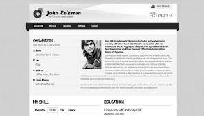 Website Resume Template 20 Creative Resume Website Templates To Improve Your Online