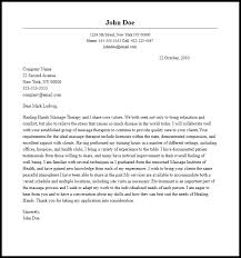 awesome massage therapy cover letter 39 with additional cover