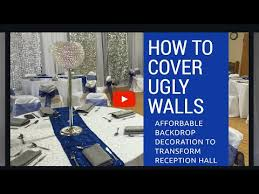wedding backdrop tutorial how to decorate an wall wedding reception wedding backdrop