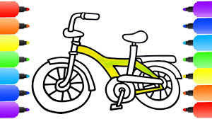 how to draw bicycle bicycle coloring pages creativity colors