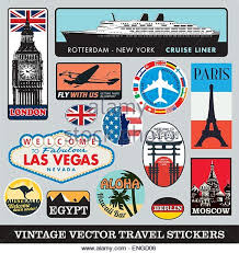 Travel stickers stock photos travel stickers stock images alamy