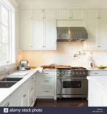 cream kitchen with high end viking stove and range hood victoria cream kitchen with high end viking stove and range hood victoria vancouver island british columbia canada