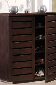 Entry Shoe Storage by Furniture Baxton Shoe Cabinet With Sufficient Space To