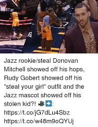 Mitchell Meme - jazz rookiesteal donovan mitchell showed off his hops rudy gobert
