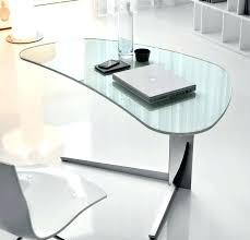 Glass Corner Computer Desks For Home Glass Corner Desk Bethebridge Co