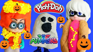 pj masks halloween costumes diy play doh makeover romeo luna