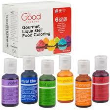 food coloring liqua gel 6 color rainbow kit in 75 fl oz 20ml
