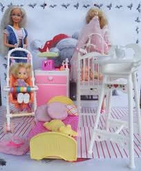 Little Tikes Barbie Dollhouse Furniture by Furniture Bed Baby Works High Chair Pregnant Barbie Doll Twins