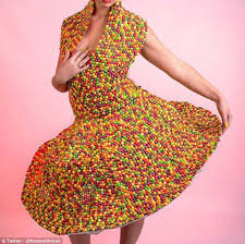 dress image louise bryan creates a dress out of skittles daily mail online