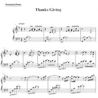 george winston thanksgiving free piano sheet divascuisine