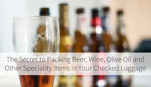 secret packing beer wine olive oil and other speciality