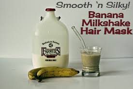 banana for hair smooth n silky banana milkshake hair mask crunchy betty