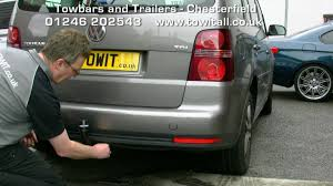 towbar video vw touran westfalia detachable youtube