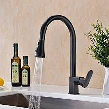 rubbed bronze pull kitchen faucet ufaucet rubbed bronze solid brass single handle pull out