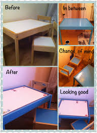 ikea childrens table refurbished ikea kids table and chairs alexisland