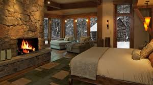 relaxing time luxurious cottage bedroom fireplace sound relaxing time luxurious cottage bedroom fireplace sound and snow falls 2 hours