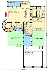 twin courtyard tuscan house plan 36854jg architectural designs