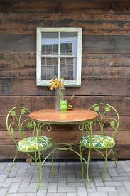 Lime Green Bistro Table And Chairs Green Bistro Table And Chair Bistro Metal Garden Table And