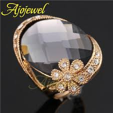 big gold rings images Fg 2014 big ring design rose gold plated rhinestone flower jpg