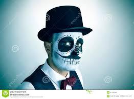 imagenes de calaveras hombres sirva con el maquillaje mexicano de los calaveras vignetted foto de