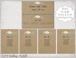 rustic seating chart template printable seating chart cards diy