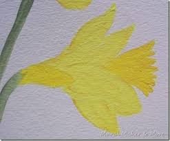 how to paint daffodils just paint it blog