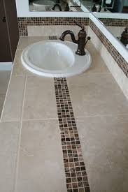 tile bathroom countertop ideas tiled bath counter top with marble accent tile tile