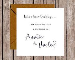 pregnancy announcement cards we ve been thinking how would you like a promotion to auntie
