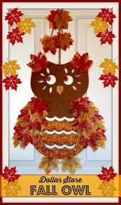 dollar store fall owl fall owl owl door hangers and owl door