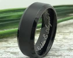 black wedding ring black wedding ring etsy