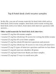 Hotel Desk Clerk Job Description Hotel Desk Clerk Resume Sample Eliolera Com