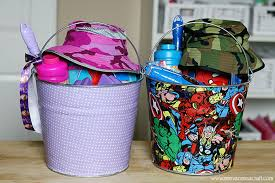 easter buckets craft fabric covered easter buckets see craft