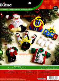 bowling santa bucilla felt ornament kit 86453 fth