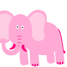 pink elephant clipart clipartxtras