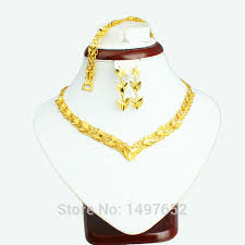 aliexpress gold necklace images 2017 newest dubai gold jewellery set gold color turkish egyptian jpg