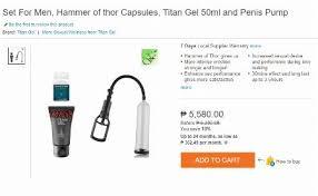 set for men hammer of thor capsules titan gel 50ml and