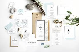 wedding invitation set gazette suite hello tenfold wedding invitations