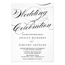 wedding invitations calligraphy calligraphy wedding invitations announcements zazzle