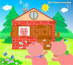 Ziegelhaus Die Drei Kleinen Schweinchen Angst Sehr Auf Die Ziegel Haus Laufen