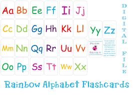 printable alphabet flashcards instant download